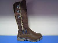 Распродажа!Зимние сапоги/ботинки для девочки YTOP 34р-38р
