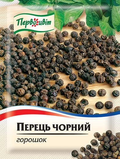 Перец черный горошек ТМ Первоцвіт, 20 г