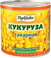 Кукуруза сахарная консервированная ТМ Первоцвіт,430 г, фото 1