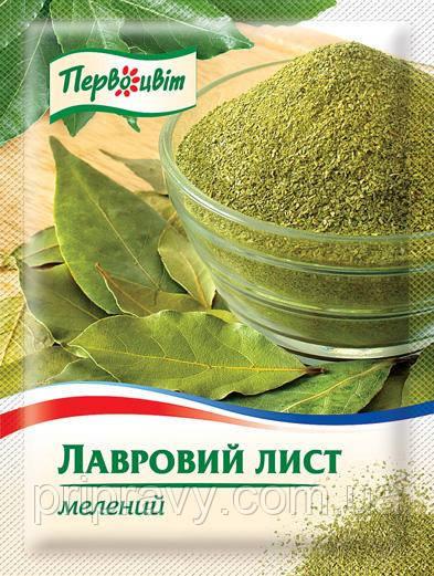 Лавровый лист молотый ТМ Первоцвіт, 20г