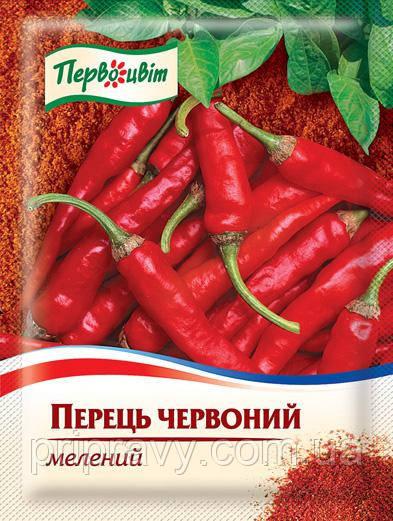 Перец красный молотый ТМ Первоцвіт, 15 г