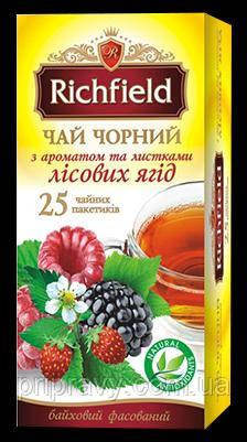 Чай черный с ароматом и листьями лесных ягод ТМ Richfield, 50г