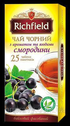 Чай черный с ароматом и ягодами смородины ТМ Richfield, 50г