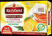 Чай черный с сахаром и Лимоном 1+1 ТМ Richfeild, 170г