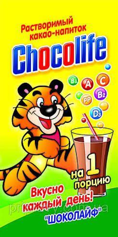 Какао напиток в стиках ТМ Шоколайф, 18 г