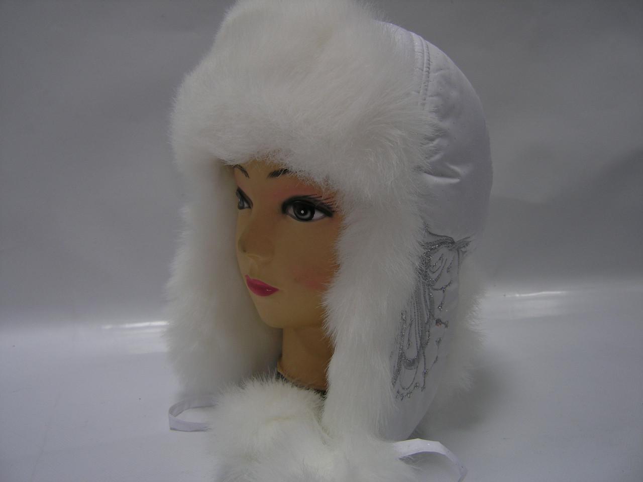 Шапка зимняя - белая