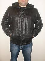 Куртка черная модная молодежная стеганая