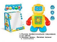 Робот Игра- музыка на русском языке, свет, на батарейке