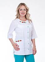 """Медицинский костюм женский """"Health Life"""" х/б с вышивкой 2263"""