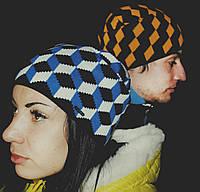 Модная шапка в ромбах