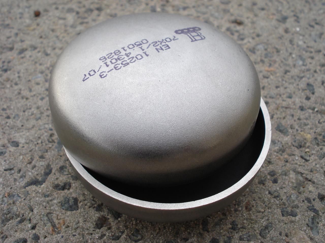 Заглушка из нержавеющей стали 168,3х2