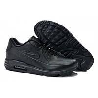 Мужские кроссовки Nike Air Max 90 Lunar SP Leather All Blacks, фото 1