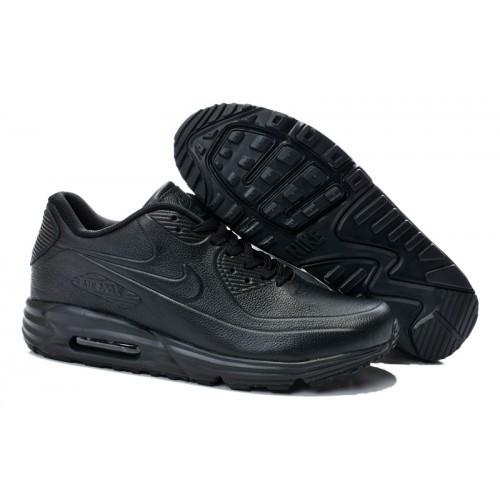 Мужские кроссовки Nike Air Max 90 Lunar SP Leather All Blacks - Интернет  магазин обуви « 5a8d397b0bc