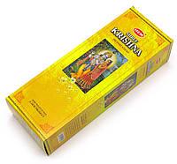 Аромапалочки шестигранник Шри Кришна  Sri Krishna (Hem)(6/уп)