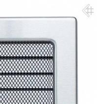 Вентиляционная решетка для камина KRATKI 17х37 см шлифованная с жалюзи, фото 2