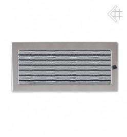 Вентиляционная решетка для камина KRATKI 17х37 см шлифованная с жалюзи