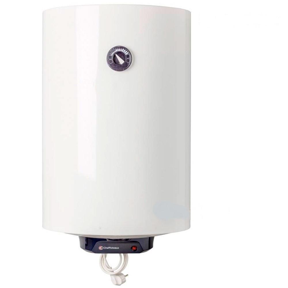 Накопительный электрический бойлер Chaffoteaux CHX 80 R PL на 80 л белый + шнур питания.
