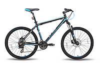 Велосипед 26'' PRIDE XC-26 MD черно-синий матовый 2015