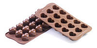Силиконовая форма для шоколада сердечко 30х22 мм h 25 мм Silikomart SCG01