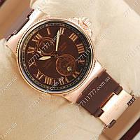 Часы мужские наручные Ulysse Nardin Lelocle Suisse Gold/Brown