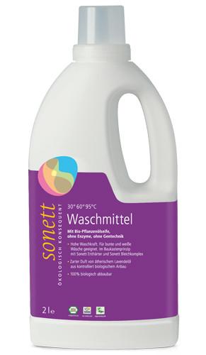 Органическое жидкое средство для стирки Sonett с эфирным маслом лаванды (концентрат), 2л