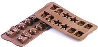 Силиконовая форма для шоколада Рождество 34х34 мм h 18,5 мм Silikomart SCG06