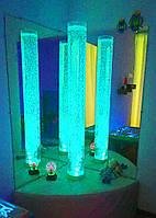 Световое решение для сенсорной комнаты: Пузырьковая колонна на мягкой подставке с пультом управления, H=180 см