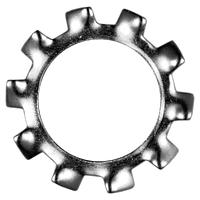 DIN 6797 A (ГОСТ 10461-81) : нержавеющая шайба стопорная с редкими наружными зубцами, фото 1