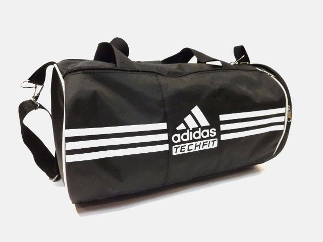 Спортивная сумка цилиндр Adidas  ( Адидас) . Черная реплика
