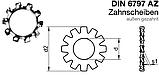 DIN 6797 A (ГОСТ 10461-81) : нержавіюча шайба стопорная з рідкісними зовнішніми зубцями, фото 2