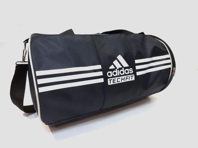 Спортивная сумка цилиндр Adidas ( Адидас) . Темно - синяя  реплика