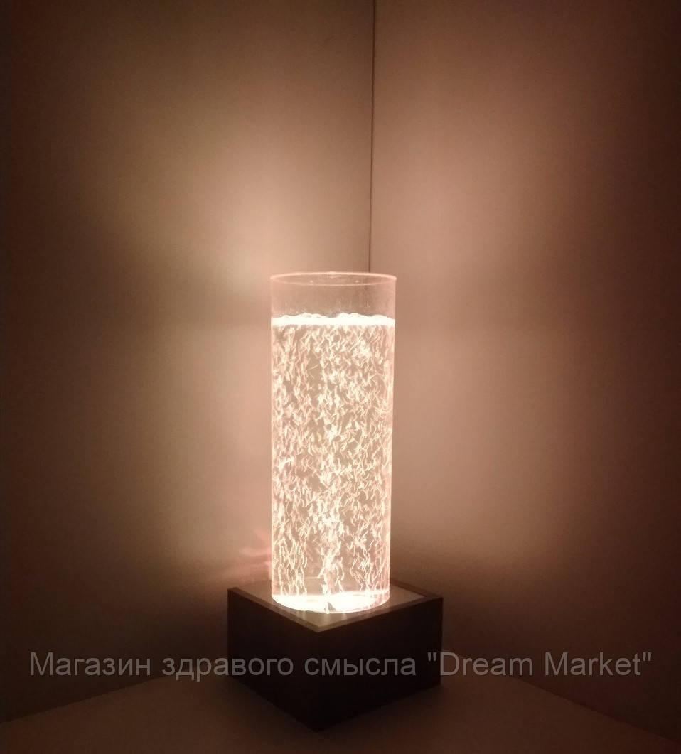 Световое решение для сенсорной комнаты: Пузырьковая колонна светящаяся ТР200М на 16 цветовых оттенков, H=70 см