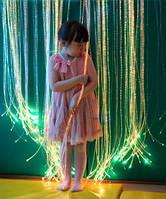 Световое решение для сенсорной комнаты: Световая стена-штора с боковым свечением. волокна Starflex длиной 2.5м, фото 1