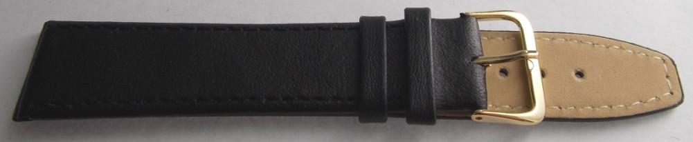 Ремешок кожаный LUX-PL (Польша) 20 мм, черный