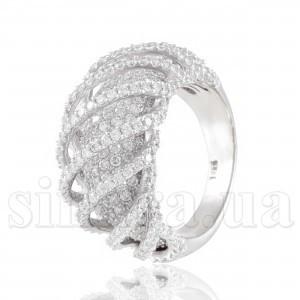 Эксклюзивное серебряное кольцо 27301, 27379