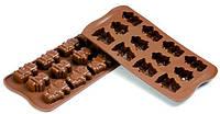 Силиконовая форма для шоколада роботы 39,5х26,7 мм h 16 мм Silikomart SCG18
