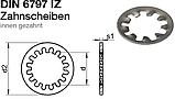 DIN 6797 J (ГОСТ 10462-81) : нержавеющая шайба стопорная с редкими внутренними зубцами, фото 2