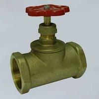Клапан (вентиль) запорный муфтовый латунный 15б1п