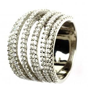 Эксклюзивное серебряное кольцо Изысканность 24327