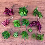 Суккуленты искусственные цветок 9 см, фото 2