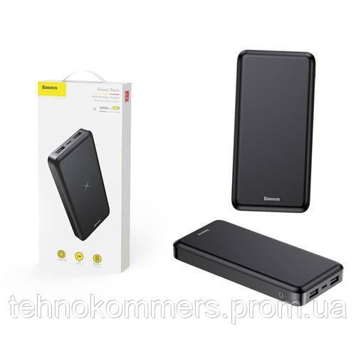 Зовнішній акумулятор Baseus M36 Wireless Charger Powerbank 10000mAh Black, фото 2