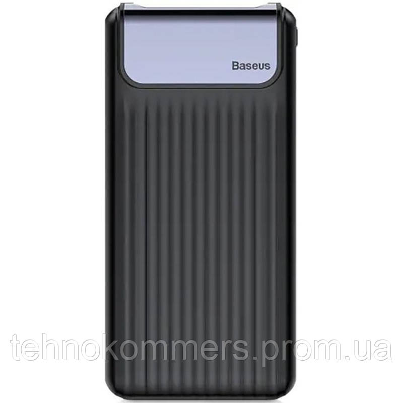 Зовнішній акумулятор Baseus Thin Digital Bank 10000 mAh Black, фото 2