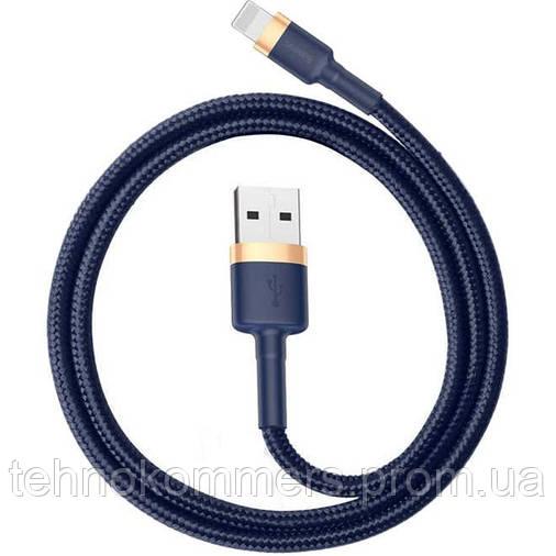 Кабель Baseus Cafule Lightning USB 1.5 A 2m Blue-Gold, фото 2