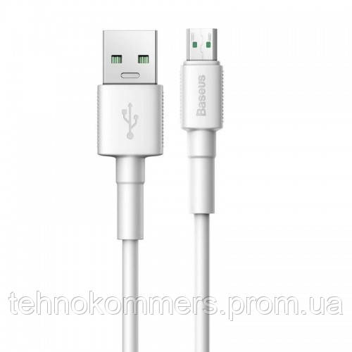 Кабель Baseus Mini White USB Cable For Micro 2.4 A 1m White