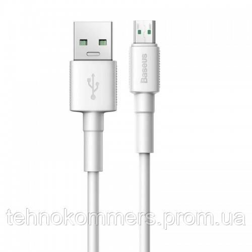 Кабель Baseus Mini White USB Cable For Micro 2.4 A 1m White, фото 2
