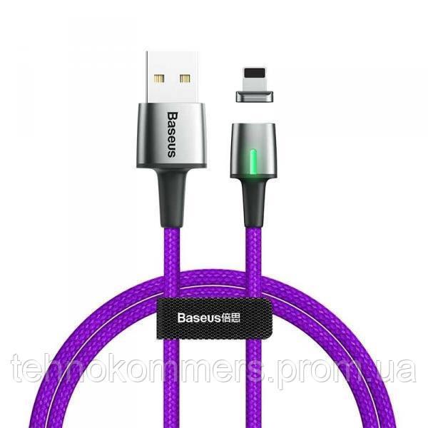 Кабель Baseus Zinc Magnetic Cable Lightning USB 2.4 A 1m Purple