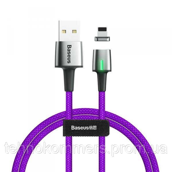 Кабель Baseus Zinc Magnetic Cable Lightning USB 2.4 A 1m Purple, фото 2