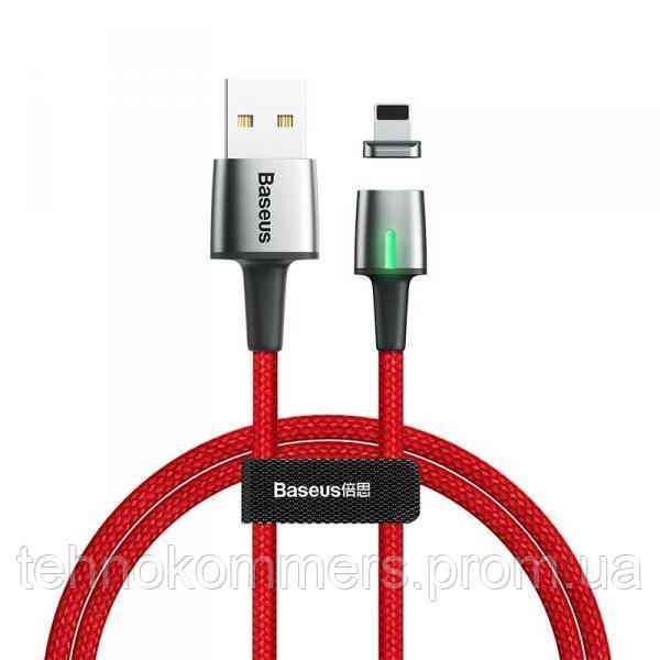 Кабель Baseus Zinc Magnetic Cable Lightning USB 2.4 A 1m Red