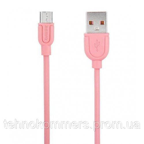 Кабель Remax Souffle microUSB USB 1.8 A 1m Pink
