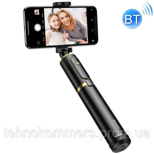 Селфі-монопод Baseus Fully Folding Selfie Stick Black+Gold, фото 2